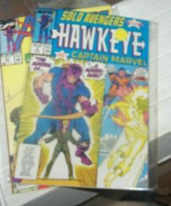 solo avengers # 2 jan 1988 marvel hawkeye and captain marvel