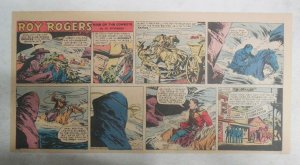 Roy Rogers Sunday Page by Al McKimson from 6/12/1955 Size 7.5 x 15 inches