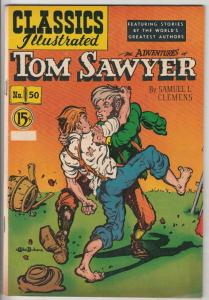 Classics Illustrated #50 (Dec-50) VF+ High-Grade Tom Sawyer