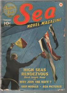 Sea Novel 1/1941-Red Star-US Navy photo cover-J Allan Dunn-VG