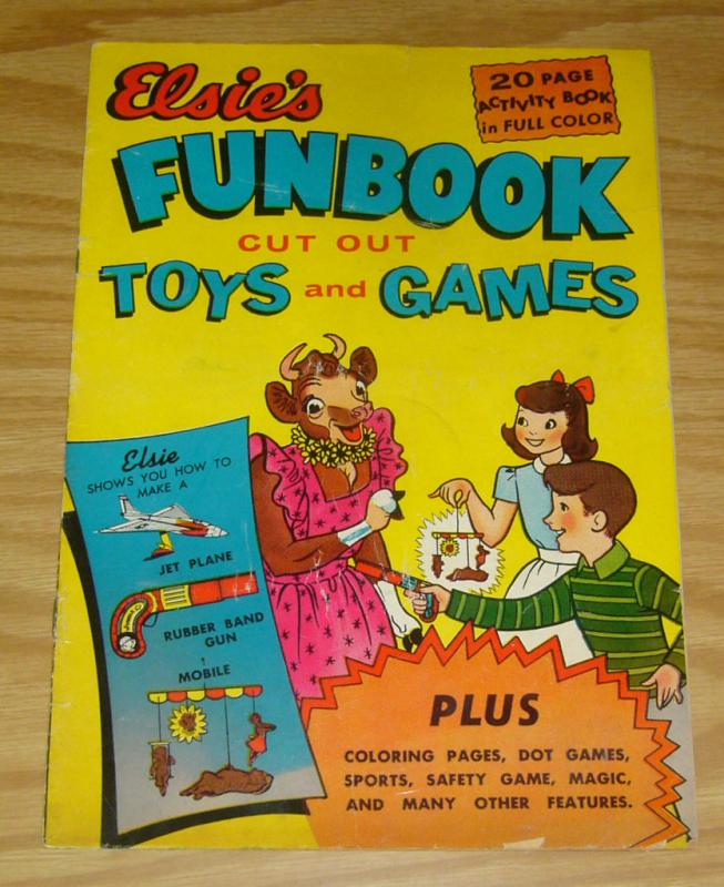 Elsie's Funbook #1 GD borden company activity book cut out toys and games