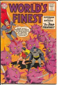 World's Finest #108 1960-DC-Superman & Batman-Green Arrow-dinosaur-VG-