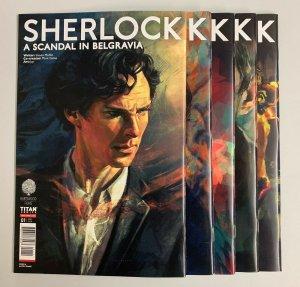 Sherlock A Scandal In Belgravia #1-5 Set (Titan 2019) Steven Moffat (9.2+)