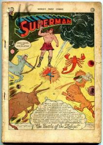 World's Finest  #19 1945- Batman- Joker- Superman- Zatara- Green Arrow coverless