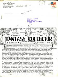 Fantasy Collector #195 1976-Caz-early comic buying/selling resource-newsletter-G