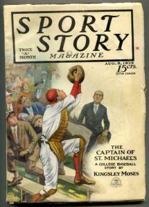 Sport Story Pulp August 8 1928- Kingsley Moses FN-