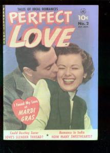 PERFECT LOVE #2 1951-PHOTO COVER-MARDI GRAS-TAJ MAHAL- FN