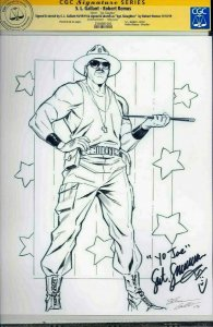 Gallant Original Sgt. Slaughter Sketch CGC Signature Series signed Robert Remus