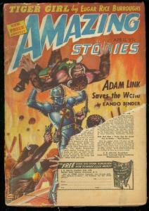 AMAZING STORIES APRIL 1942-ROBOT COVER-RICE BURROUGHS G-