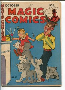 MAGIC #87 1946-DAVID MCKAY-BLONDIE-LONE RANGER-SECRET AGENT X-9-POPEYE-vg