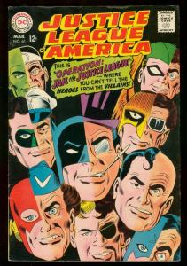 JUSTICE LEAGUE OF AMERICA #61 BATMAN SUPERMAN FLASH '68 FN/VF