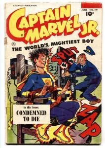 Captain Marvel Jr #119 1953- Electric Chair cover Golden Age Fawcett