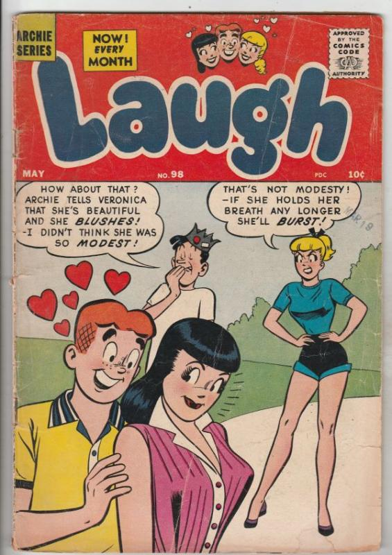 Laugh, Archie #98 (May-59) GD/VG Affordable-Grade Archie, Betty, Veronica, Re...