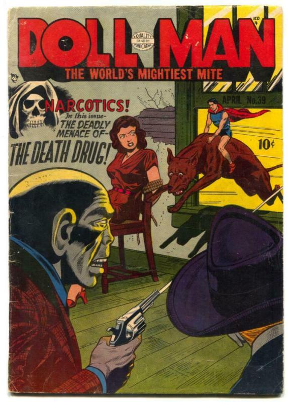 Doll Man #39 1952- NARCOTICS DRUG issue- Zombie Weed