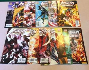Avengers Invaders 1-11 No 12 Plus Sketch Book Alex Ross