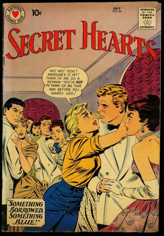 Secret Hearts #64 1960- DC Romance-  Love Triangle VG