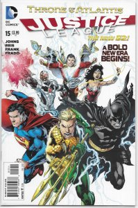 Justice League (vol. 2, 2011) # 15 VF/NM (Throne of Atlantis 1) Johns/Reis