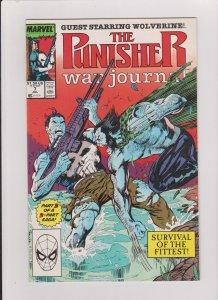 THE PUNISHER WAR JOURNAL #7 NM JIM LEE ART 1989 MARVEL PUNISHER VS WOLVERINE