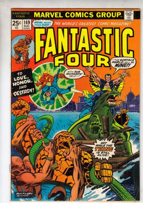 Fantastic Four #149 (Aug-74) FN/VF Mid-High-Grade Fantastic Four, Mr. Fantast...