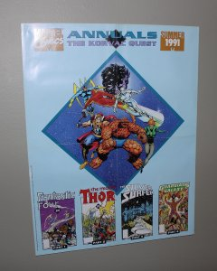 Marvel Annuals Promo Poster / FF, Thor, Silver Surfer /  1991