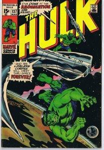 Incredible Hulk #137 ORIGINAL Vintage 1971 Marvel Comics