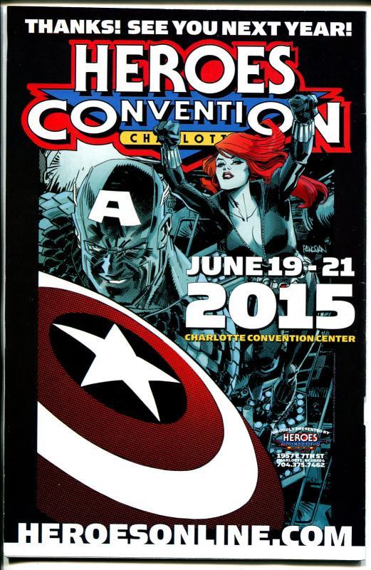 Heroes Convention Program Book 6/2014-Charlotte NC-artists-dealer info-VF