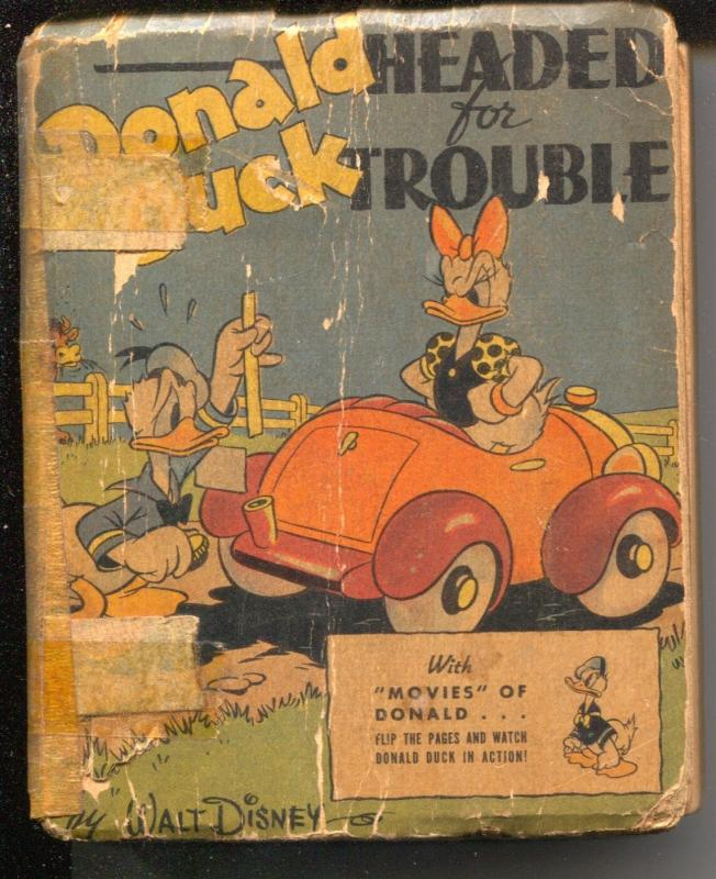 Donald Duck Headed For Trouble #1430 1942-Big Little Book-Whitman-Al Taliferro-P