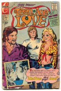 Teen-Age Love #94 1973- Hippy cover- Charlton F/G