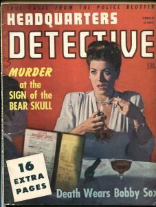 HEADQUARTERS DETECTIVE-FEB 1946-G-SPICY-MURDER-RAPE-KIDNAP-MASSACRE G