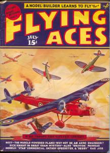 Flying Aces 7/1939-August Schomburg-Agent Dick Knight-Al McWilliams-G/VG