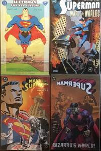 SUPERMAN DC 4 TRADE PAPERBACKS MANN AND,BIZARRO'S WORLD,ALL VF/NM