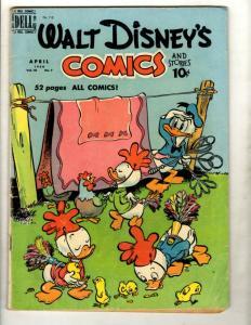 6 Walt Disney's Comics & Stories Dell Comic Books # 115 120 121 124 125 126 JK4