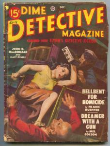 Dime Detective Pulp 12/49- Hellbent For Homicide VG
