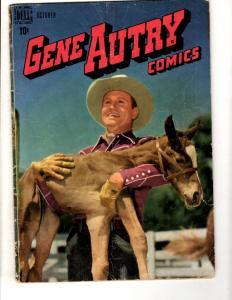Gene Autry Comics # 20 VG Dell Golden Age Comic Book Western Photo Cover JL10