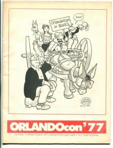 OrlandoCon Program Book 1977-Walter Gibson-Jim Ivey-CC Beck-Les Turner-FN