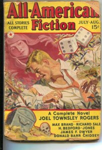 All-American Fiction  7/1938-Pulp violence & thrills-pair of dice-treasure ch...