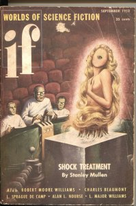 IF WORLDS OF SCIENCE FICTION-SEPT 1952-PHILIP K DICK-FEMALE CYCLOPS-PULP MYSTERI