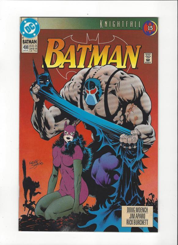 Batman #498 Knightfall Pt 15 Catwoman Bane Cover  NM