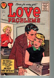 LOVE PROBLEMS #36-1955-SPICY POSES-NICE ART-G/VG-HEADLIGHT PANELS-HARVEY  G/VG