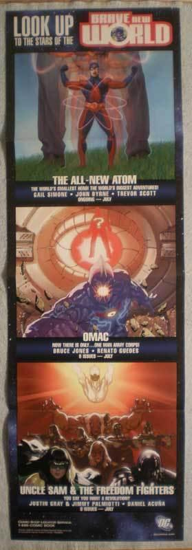 BRAVE NEW WORLD Promo poster, Atom, 11x34, 2006, Unused, more Promos in store