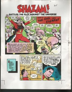 Hand Painted Color Guide-Capt Marvel-Shazam-C35-1975-DC-page 25-splash-VG/FN