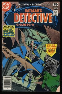 Detective Comics #477 FN/VF 7.0 Batman! Signed by Marshall!