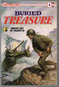 Buried Treasure #4 1991-Laliber-Frank Frazaetta-Korean War-Heroic Comics-VF
