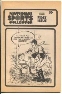 National Sports Collector #1 1976-1st issue-sports memorabilia collector info-FN