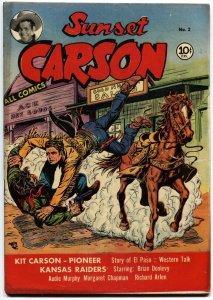 Sunset Carson #2 1951 Kit Carson El Paso Golden Age Western