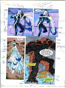 Elementals #9 Page #26 Original Color Guide Ken Feduniewicz