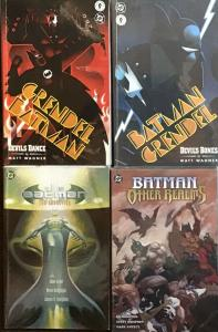 BATMAN DC 4 TRADE PAPERBACKS;OTHER REALMS,GRENDEL,THE ABDUCTION ALL VF/NM