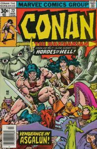 Conan the Barbarian #72 FN; Marvel | save on shipping - details inside