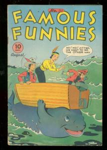 FAMOUS FUNNIES COMICS #133 1945-WHALE COVER-BUCK ROGERS VG