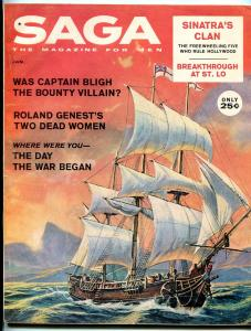 Saga Magazine January 1961-RAT PACK-WILD SHIP COVER-HMS BOUNTY-WW II FN